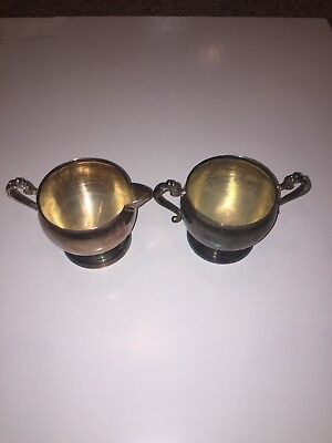 Vintage Antique Silver Plated Tea Cups