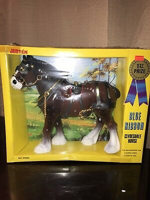 Justen Blue Ribbon Clydesdale horse toy-1983
