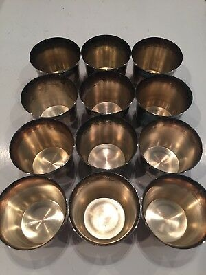Vintage Antique Silverplated Punch Cups Sheridan Qty-12
