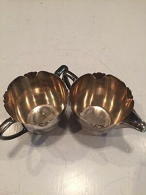 Vintage Antique Tea Cups Silver Plated W M Rogers