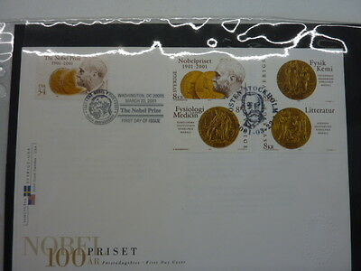 2001 Sweden FDC's collection stamp issue