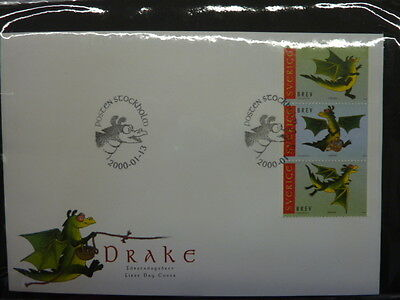2000 Sweden FDC's collection stamp issue