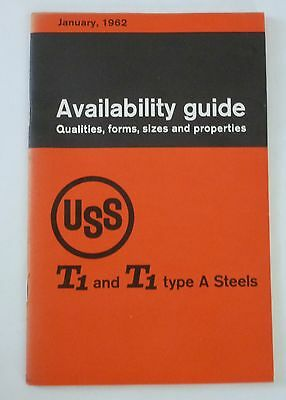 United States Steel 1962 T1 Steel Availability Guide