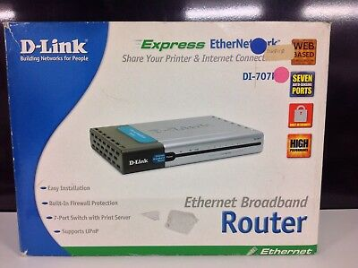 D-Link 707P 10/100 Wired Router plus Print Server
