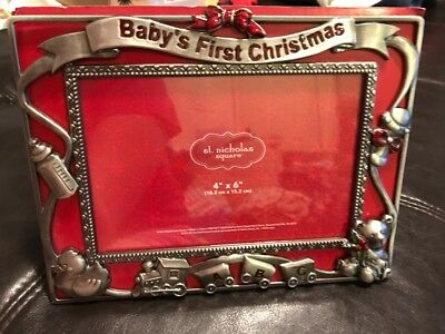 NEW Baby's First Christmas Picture Frame 4x6 Gender Neutral