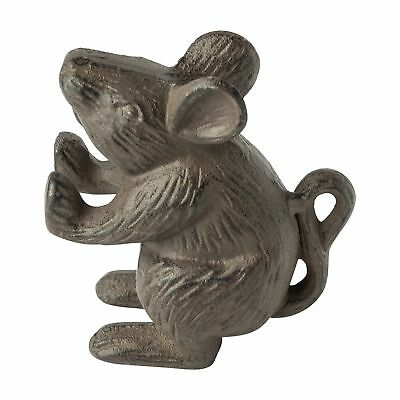 Vintage Antique Old Style Cast Iron Rat Small Mouse Rustic Door Stop Home Decor