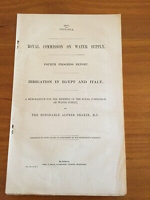 Irrigation In Egypt And Italy - Victoria - 1887