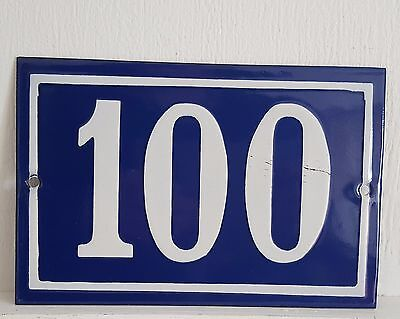 ANTIQUE FRENCH ENAMEL HOUSE NUMBER SIGN Door gate plaque street plate 100