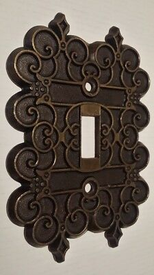 ~1 Vintage~Ornate Brass~Light Switch Plate Cover~