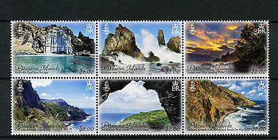 Pitcairn Islands 2016 Landscapes Joined Block Of 6 Mnh