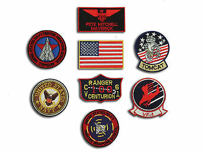 Top Gun Maverick Fancy Dress patches Iron-on 8 Patch set , Aufnäher Bügelbild