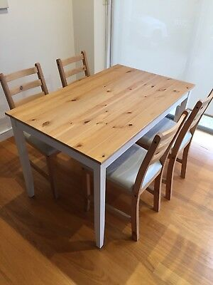 IKEA Lerhamn Dining Table With Four Chairs