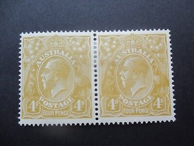 KGV Stamps: 4d Olive Pair MH - Great Item (4408)