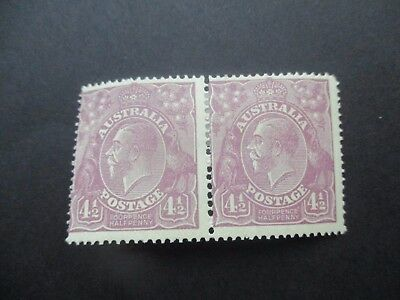 KGV Stamps: 4.5d Violet Pair MH - Great Item (4683)
