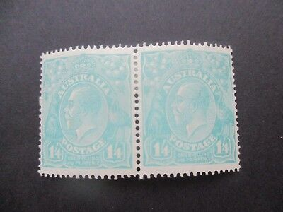 KGV Stamps: 1'4d Turquoise Pair MH - Great Item (4818)
