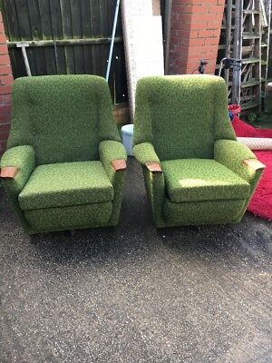 Pair Of Retro Quality Arm Chairs