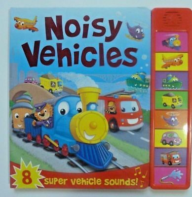 Noisy Vehicles, 8 Super Vehicles Sounds, For kids Age 0 Month+ Babies, New, Gift
