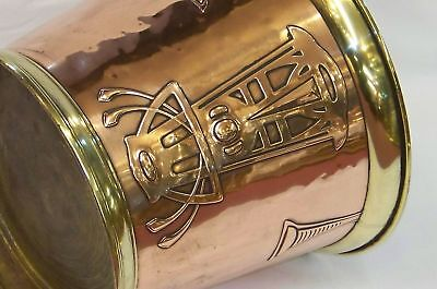 Antique Arts & Crafts Jugendstil Copper Brass Planter Wine Cooler Wmf Deffner ??