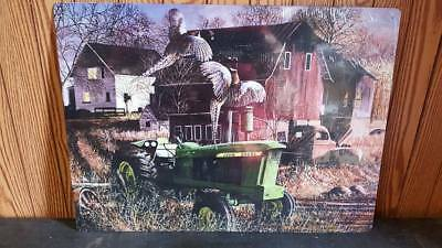 "John Deere  Tractor  Metal Tin Sign  Approx. 12"" X 16""  Usa  New On Sale"