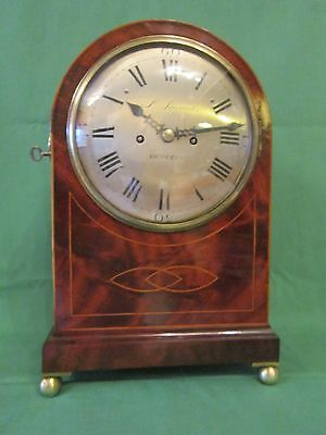 Georgian period bracket clock of extremely small proportions