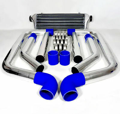 "Intercooler Kit 63,5mm 2,5"" BMW E30 E36 E46 Turbo Lader Ladeluftkühler Umbau G60"