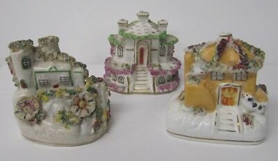 Staffordshire Cottage Pastel Burners Antique Collectable early 19th century