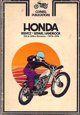 Honda Cr250,mt250,mr175,cr125,mt125,elsinore Clymer Manual 1973-1974