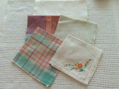 Vintage collection of cotton handkerchiefs 1950s or 1960s