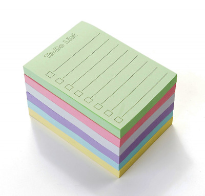 """EHME Super Sticky Notes 3"""" x 4"""", The To Do List Notepad, Easy Post Lined Notes,"""