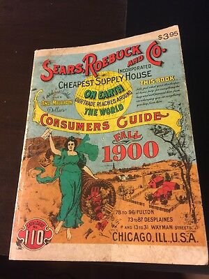 1970 Reprint Fall 1900 Sears,Roebuck And Co. Catalog Chicago
