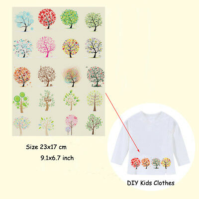 Heat Transfer Tree Of Life Patch Iron On Patches Clothes DIY Decoration Printing
