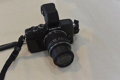 Olympus OM-D E-P5 16.1MP  - Black w VF-4 and 14-42mm Lens - Perfect!!!!