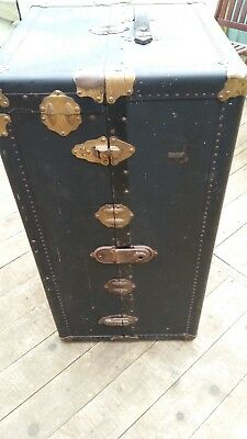 Vintage Fitted Wardrobe Steamer Travel Trunk Or Chest or could be a coffee table