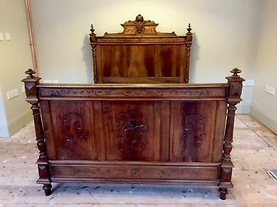 ANTIQUE FRENCH OAK 4 foot 6  DOUBLE BED