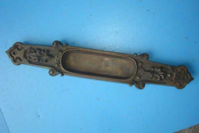 1 Victorian /eastlake Brass  Ornate Door Push Open / Close Plate Hardware