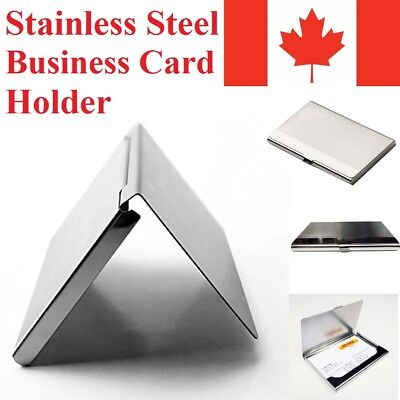 Business Debit Credit Card Holder Protector Stainless Steel Metal Wallet Case