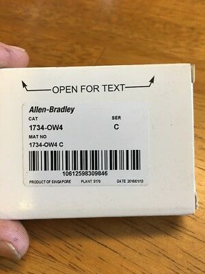 New In Box Allen Bradley 1734-OW4 Output Module