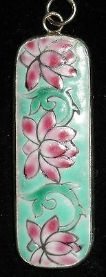 Ming/ching Dynasty Porcelain Pottery Shard Pendant~Large~Floral