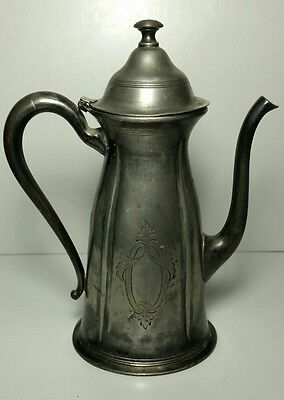 Antique Quadruple Silver Plate Ewer made by Forbes Silver Co. Circa 1890's