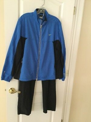 Nike Women's Black & Blue Athletic Track Suit Size XL