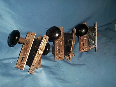 antique ornate brass door hardware knobs hinges mortise locksets