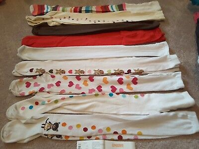 LOT of 9 girl's Tights size 5-7 All GYMBOREE except red pair GUC