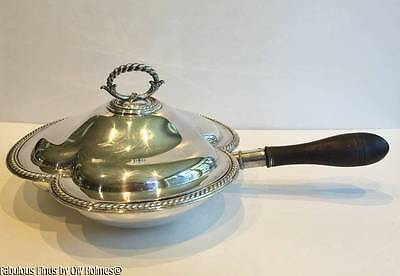 Antique c.1880 English ELKINGTON Silver Plate Divided Serving Dish Victorian