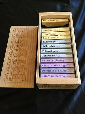 Mind's Eye Lord Of The Rings Cassette Tapes Wooden Box Set NPR Tolkien