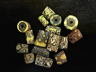 Vintage Venetian African Trade Beads, Mixture of Millefiori and Others