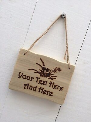 Rustic Driftwood Style Personalised Wooden Wild Flowers Garden Allotment Sign