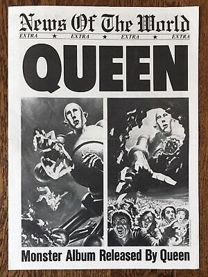 Queen - News Of The World Press Kit Newspaper Nm