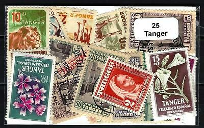 Tanger 25 timbres différents