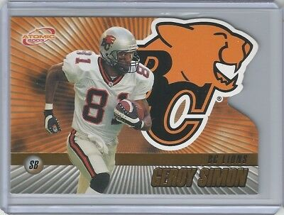 BC Lions 2003 Pacific Atomic Gold CFL #9 Geroy Simon 11/175 - Hall of Famer