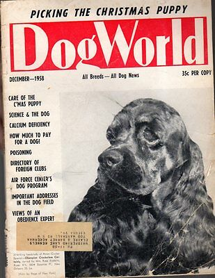 Dog World Magazine December 1958, American Cocker Spaniel Cover, History